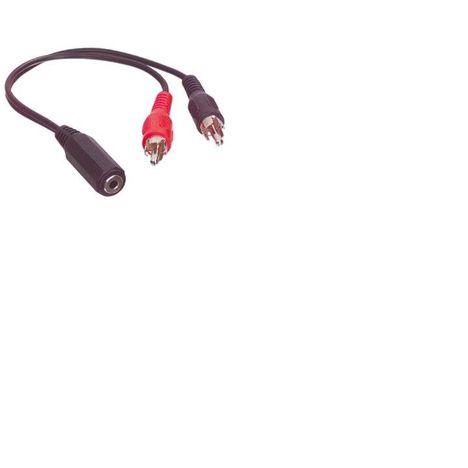 QILIVE Connectique Câble RCA M / Jack 3.5mm Noir