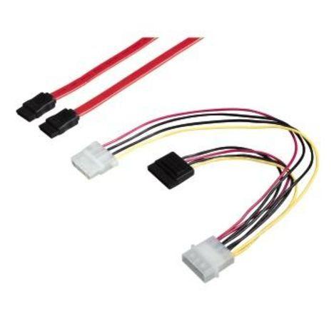QILIVE Connectique Câble Serial ATA + Ali Y Noir