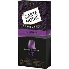 Carte Noire Capsules espresso puissant compatibles Nespresso X10-53g