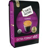 Carte Noire Carte Noire café corsé n°6 dosette x60 -420g extra format