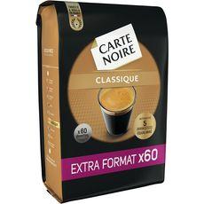 CARTE NOIRE Carte Noire Dosettes de café classique compatibles Senseo X60-420g 60 dosettes 420g