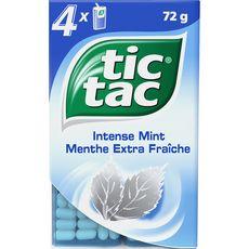 Tic Tac Pastilles goût menthe fraîche 4 boîtes 64g