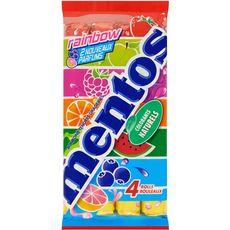 Mentos rainbow pack 4 rouleaux 150g