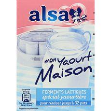 Alsa préparation mon yaourt maison  sachets x4 8g