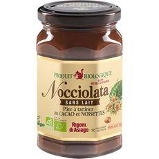 Nocciolata Pâte à tartiner bio sans lait au caco et noisettes 270g