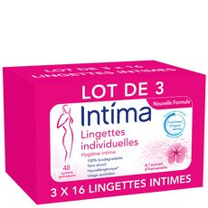 INTIMA Lingettes intimes 3x16 lingettes