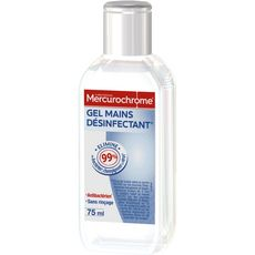 MERCUROCHROME Gel mains désinfectant anti-bactérien 75ml