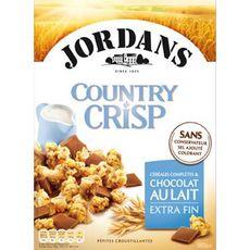 JORDAN'S Country crisp céréales au chocolat au lait 550g