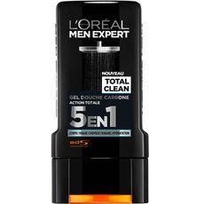L'OREAL Total Clean Gel douche carbone action totale 5en1 300ml