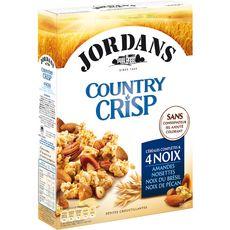 JORDAN'S Country crisp céréales complètes et 4 noix 550g