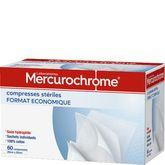 Mercurochrome compresses stériles 20cmx20cmx60