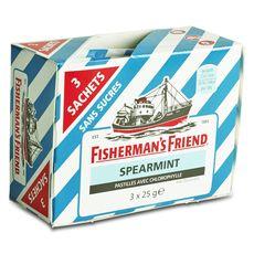 Fisherman's friend spearmint sans sucre 3x25g