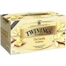 TWININGS Thé noir vanille 25 sachets 50g