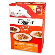 GOURMET Mon petit sachets repas pâtée volailles pour chat 6x50g