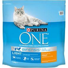 PURINA One bifensis light croquettes au poulet blé pour chat 1,5kg