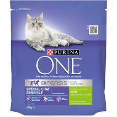 PURINA One bifensis croquettes à la dinde pour chat sensible 450g