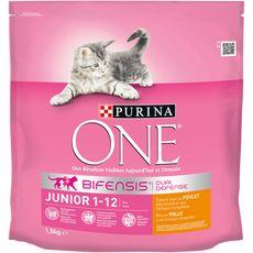 PURINA One dual nature croquettes poulet céréales pour chaton 1,5kg