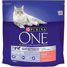 PURINA One bifensis croquettes au saumon céréales pour chat 1,5kg