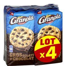 GRANOLA l'Original Cookies aux gros éclats de chocolat 4x184g