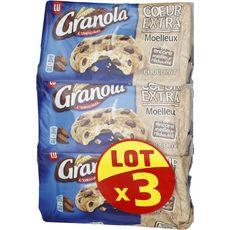 GRANOLA Granola Cookies coeur extra moelleux aux pépites de chocolat 3x182g 3x182g