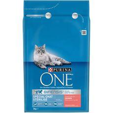 PURINA One bifensis croquettes au saumon blé pour chat stérilisé 3kg