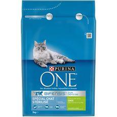 PURINA One bifensis croquettes à la dinde blé pour chat stérilisé 3kg