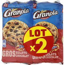 GRANOLA Cookies au daim aux gros éclats de chocolat Lot de 2 2x184g