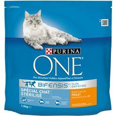 PURINA One bifensis croquettes au poulet céréales pour chat stérilisé 1,5kg