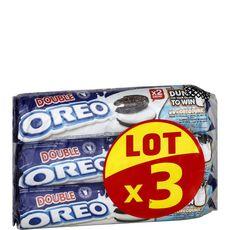 OREO Double Biscuits fourrés 3x157g