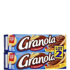 Granola Biscuits sablés nappés de chocolat au lait 2x16 biscuits 2x200g