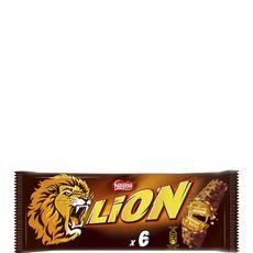 Lion Barres chocolatées au caramel et céréales croustillantes 6 barres 210g