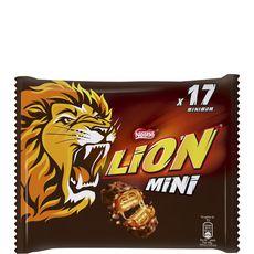 LION Lion Mini 17 barres chocolatées au caramel et céréales croustillantes 350g 17 barres 350g
