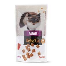 AUCHAN Auchan Adult Friandises déliss'cat pour chat 60g 60g