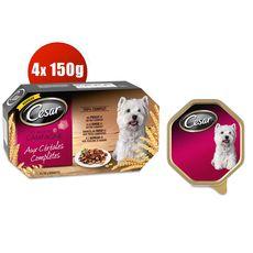 CESAR César recette campagne céréales complètes barquettes 4x150g.