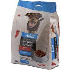 AUCHAN Adult multricroquettes moelleuses au boeuf pour chien 10kg