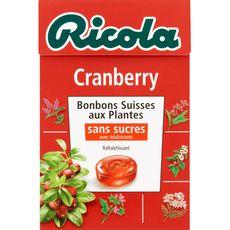 RICOLA Ricola bonbons sans sucre cranberry boîte 50g