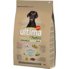 ULTIMA NATURE Croquettes au poulet légumes riz pour chien 3kg