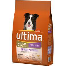 ULTIMA Croquettes Poulet orge céréales pour chien stérilisé 2kg