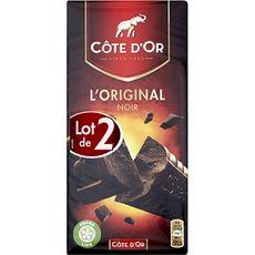 Côte d'or L'original tablette de chocolat noir en barres 2x200g 400g