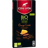 Côte d'Or noir orange vanille bio 90g