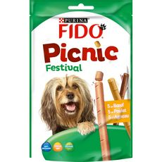 FIDO Friandises picnic boeuf poulet agneau pour chien 126g