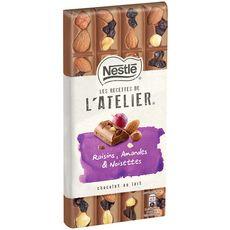 Nestlé recettes atelier lait raisin amandes 195g