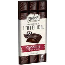 Nestlé Recettes de l'Atelier tablette de chocolat noir fourré ganache 150g