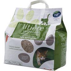 AUCHAN Litière végétale écologique et confortable pour chat 10l