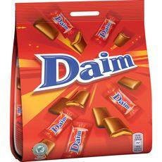DAIM Chocolats au lait fourrés au caramel sachet individuel  200g