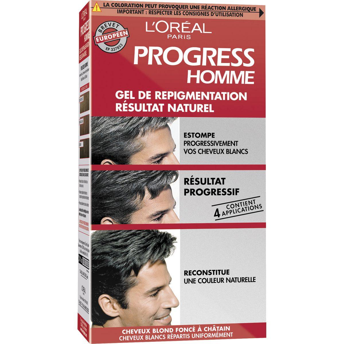 L'Oréal Gel de repigmentation pour homme blond foncé, châtain