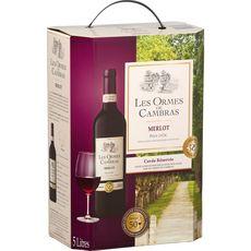 Les Ormes de Cambras vin de pays d'Oc Merlot rouge igp 5 litres