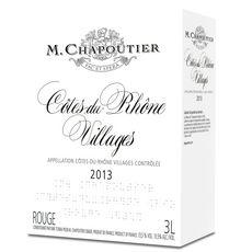 AOP Côtes-du-Rhône Villages M. Chapoutier rouge 3l
