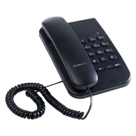 SELECLINE Télephone filaire - Noir