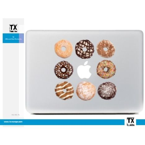 DESTROY POP Sticker pour Macbook motif Donuts